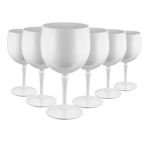 RB Unzerbrechlich Ballon Gin Cocktail Gläser Weiß Premium 47cl, Stück 6