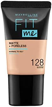 Maybelline New York Fit Me Matte & Poreless Mini, 128 Warm, 1