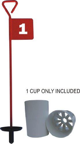 PuttingGreen-Fahne, inkl. Locheinsatz, Rot