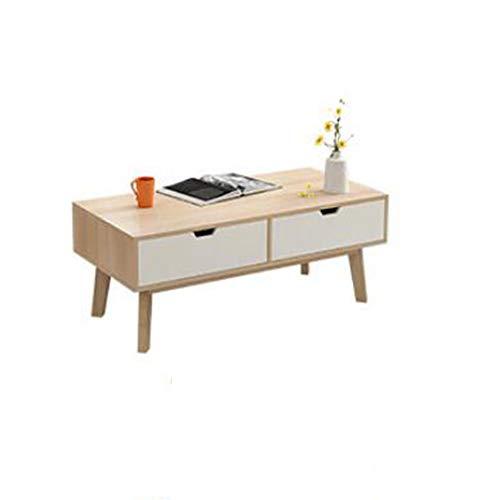 XIA Table basse avec tiroir - Table de nuit Mobilier de salon, salle à manger ou salon contemporain et contemporain (Couleur : Couleur du bois, taille : 4 drawer)