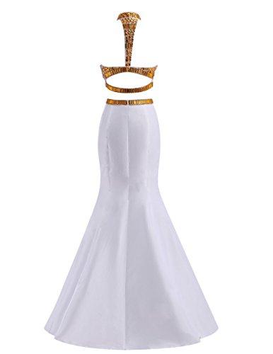 Dresstells, Robe de cérémonie Robe de soirée emperlée forme sirène deux pièces traîne moyenne Lilas