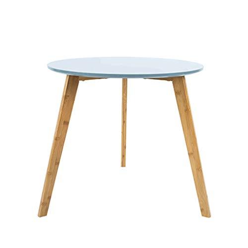 Student Study Tisch Europäischen Wohnzimmer Couchtisch Mini Holz Kleinen Teetisch Einfache Runde Tisch Moderne Esstisch Freizeit Sofa Beistelltisch Couchtisch ( Color : Blue , Size : 50x45cm ) (Studenten Studie Für Tisch Runde)