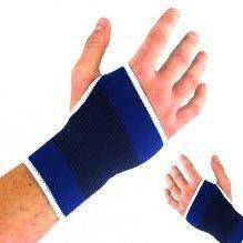 2 x Blue Elasticated Hand Palm Wrist Glove Support Guard Brace Splint Protector by HISPUK