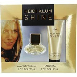 Heidi Klum Shine Eau de Toilette Gift Set, EDT spray 0.5 fl oz, Body Lotion 2.5 fl oz
