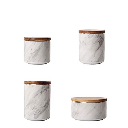 gengyouyuan Keramik-Ornamente Kaffee Bonbon Glas Marmor bedeckt verschlossenen Dose