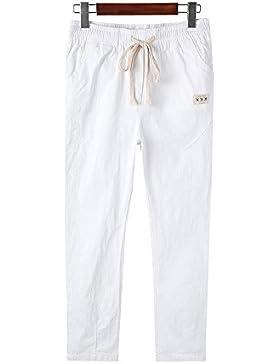 ShiFan Mujer Pantalones Con Cordón Casual Oficina Deportivos Elegantes Bolsillos