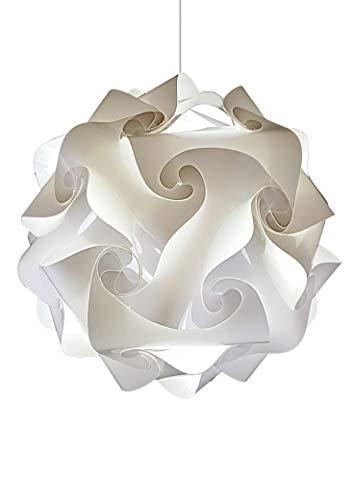 Lampadario design moderno cucina camera da letto bagno ingresso corridoio 25 cm bianco l'unico consegnato montato con 3 strati in resina lampada soffitto