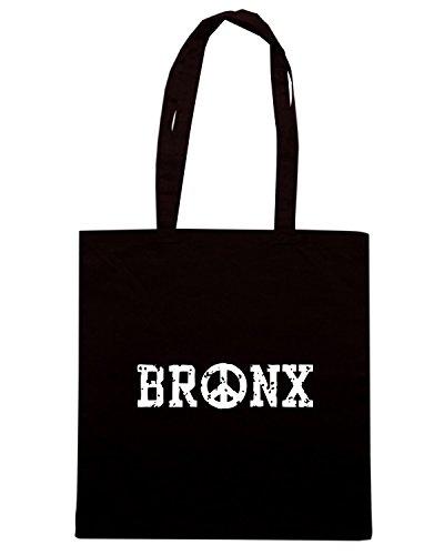 T-Shirtshock - Borsa Shopping TSTEM0147 bronx peace Nero