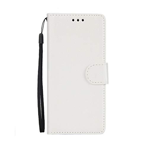 Ysimee Coque Samsung Galaxy S7 Edge, Étui Portefeuille Magnétique en Cuir Couleur Unie Mince Housse Con Antichoc TPU Bumper Porte-Cartes Fonction Support Folio Coque à Rabat pour Galaxy S7 Edge,Blanc