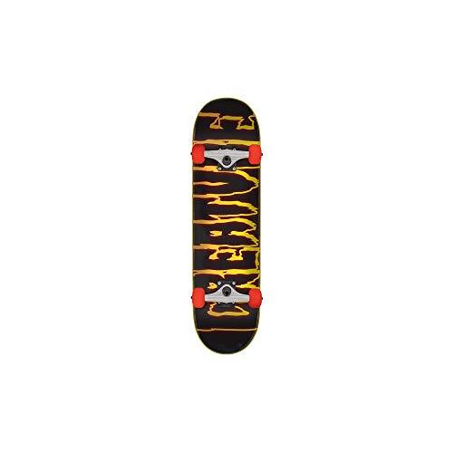 Creature Skateboard Komplett Rev Logo - 7.75 Inch Schwarz (One Size, Orange)