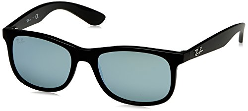 Ray-Ban Rayban Unisex-Kinder Sonnenbrille 9062s, Matte One Black/Flashgrey, 48