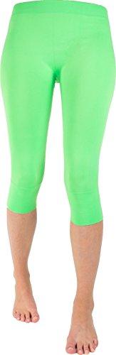 Wowerat Seamless-Capri-Leggings ohne auftragende Nähte in Top Farben Farbe Mint Größe L/XL Damen-seamless-capri