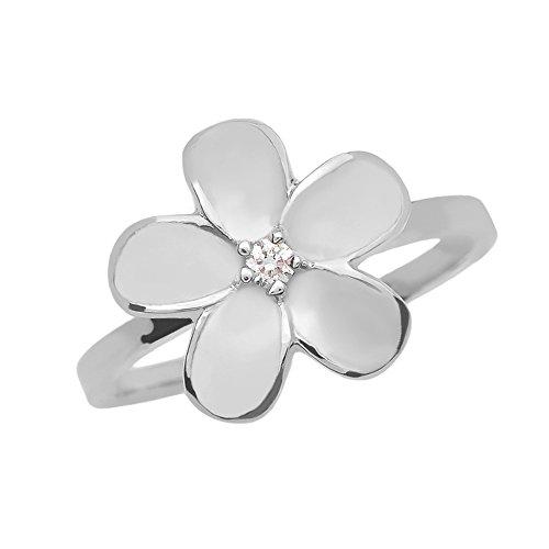 Plumeria-ring (Damen Ring 925 Sterling Silber Plumeria Blume Ring)