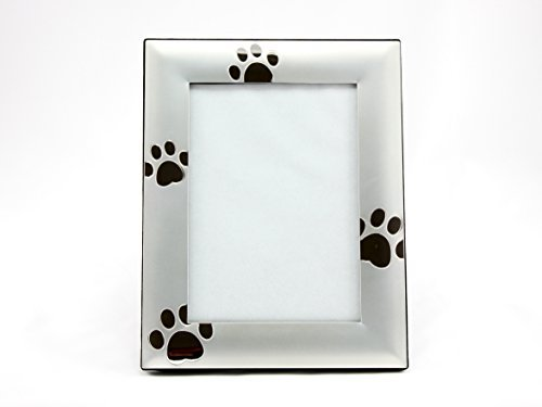 skyway-puppy-dog-paw-print-pet-photo-picture-frame-silver-5-x-7
