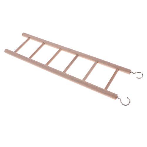 Sharplace Holz Hängebrücke Leiter Holzleiter Hamster Spielzeug Vogelspielzeug für Vogel Papagei Nymphensittiche Sittich Wellensittich Nager Maus Ratte - 6-Stufen