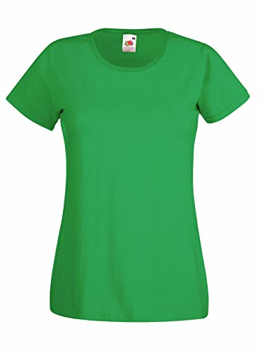 Preisvergleich Produktbild Fruit of the Loom: Lady-Fit Valueweight T 61-372-0, Größe:M (12);Farbe:Kelly Green