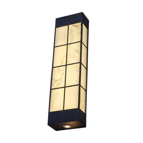 Mogicry Marmor Lampshade Außenwandleuchte Eisen LED Dekoration Beleuchtung Wandleuchte Chinese Style Antique Laserschneiden Langes Leben Wasserdicht Regendicht Außenwandleuchte Für Terrasse Balkon