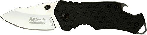 MTech USA Evolution Black Springer - Klappmesser Schwarz, Klinge sehr scharf, Klingenlänge: 7 cm