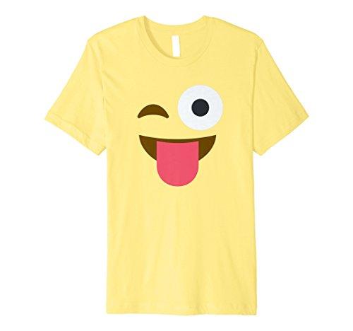 heraus lustige Emoji Kostüm T-Shirt ()