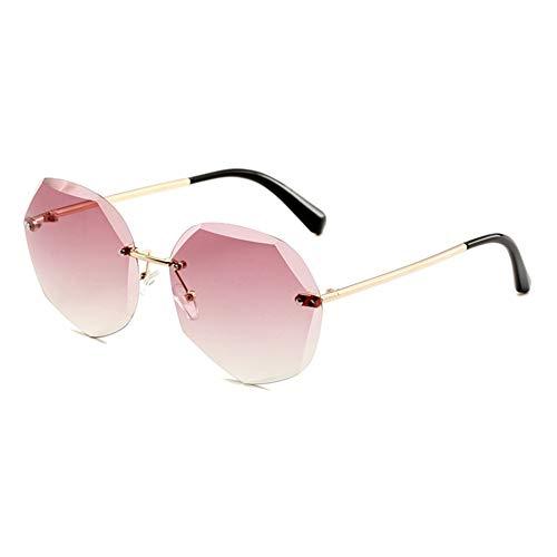 ZYFCC Mode Fahren polarisierten Sonnenbrillen, Frauen Metall rahmenlose Sonnenbrille, polarisierte Brillen Sportbrillen Angeln Golfbrille, Ski/Radfahren/Sport Sonnenbrillen. (Color : #5)