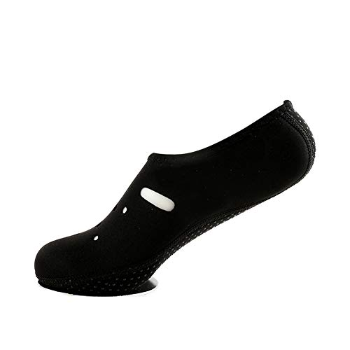 Mayyou Unisex Barfuß-Schnorchelausrüstung Dicker Rutschfester Tauchstrand Yoga-Schuhe Aqua Socken Schuhe Wasserschuhe, Schwarz, XXXS(25-27)