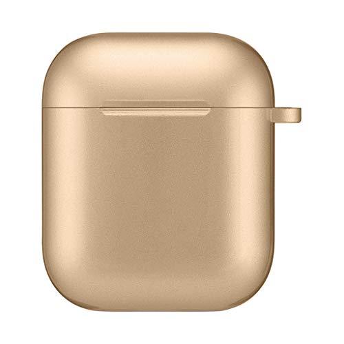 tallic-Lackierung + UV-Schutzhülle Schlüsselanhänger für AirPods Kopfhörern (Gold) ()