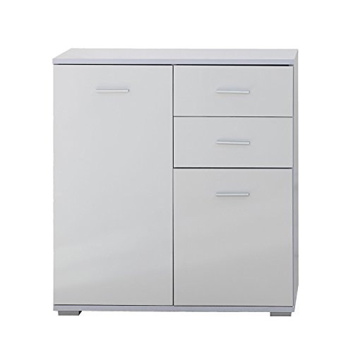 Buy Homcom Modern High Gloss Side Cabinet Table Sideboard