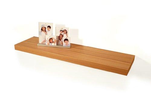 Wandboard Bobby Kernbuche Dekor 80cm - Deutsche Herstellung Schablone und Schrauben - Wandregal Wandbord (Schablone Dekor)