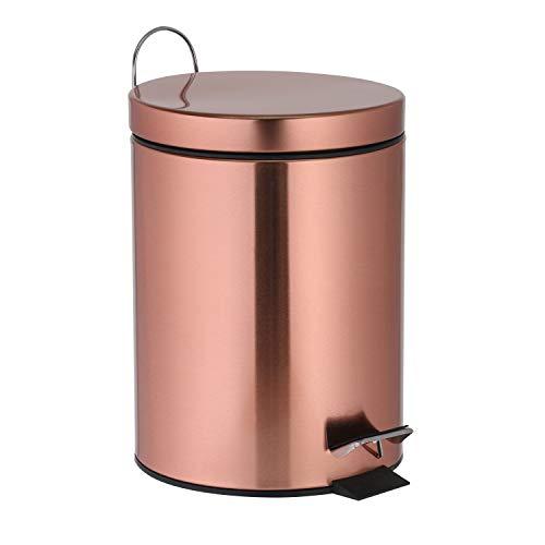 Ribelli Treteimer 3 Liter Kupfer Mülleimer ALS Abfalleimer, Kosmetikeimer für Badezimmer + Küche...