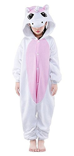 Auspicious beginning Kinder Unicorn Pyjamas Tier Nachtwäsche Cosplay (Girl Kostüme Go Halloween Go)