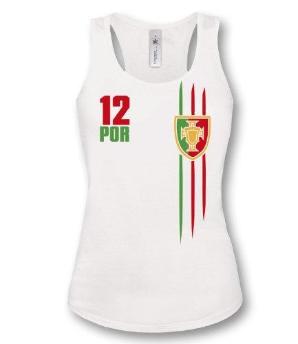 Luckja Damen Tanktop WM 2014 Portugal Trikot Fanshirt