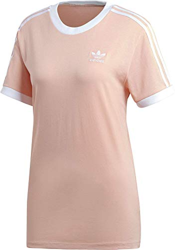 Farbe Damen Rosa T-shirt (adidas 3 Stripes Tee T-Shirt (Short Sleeve), Damen M Pink (Dust Pink))