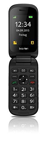 Beafon SL470 2.4' 88g Negro Teléfono para Personas Mayores - Teléfono móvil (Concha, SIM única, 6,1 cm (2.4'), Bluetooth, 800 mAh, Negro)