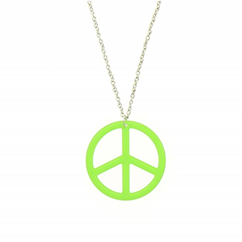 Fashiongen - Sautoir acrylique peace and love strass - Vert