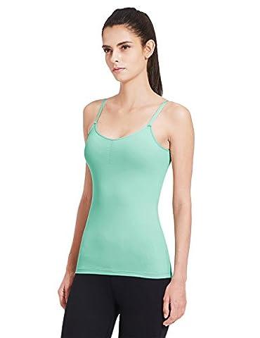 Baleaf Women's Yoga Adjustable Spaghetti Strap Camis Tank Top Built in Shelf Bra Mint Green S