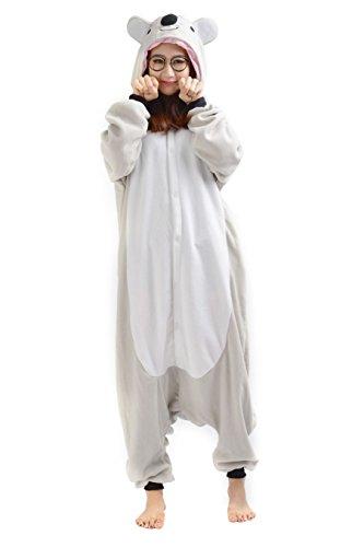 Kostüm Erwachsene Lemur Für - SAMGU Koala Unisex Adult Tier Onesie Pyjama Kostüm Kigurumi Schlafanzug Erwachsene Tieroutfit Jumpsuit Farbe Gra U Größe S