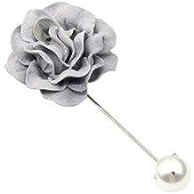 Gysad Tela rosa Broches de flores Elegante y generoso Broches para ropa mujer Creativo pequeño regalo