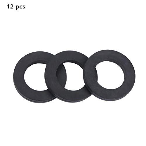 12 stücke Flache Gummi Unterlegscheiben Gummi O-Ring Dichtungen Wasser Rohrverbinder Ersatz für Wasserhähne und Duschkopf(3/4 Zoll) (Flache O-ring)