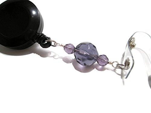 atlanyards violett Perlen Lanyard Retractable Badge Reel, Lehrer ID Holder, Krankenschwester Geschenk, Perlen 25