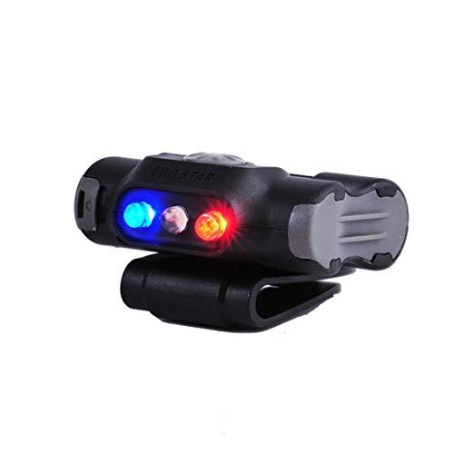 NEXTORCH UL12 - LED- Cliplampe mit Warnlicht blau/rot und weißem Licht für Kappen, Molle, Rucksäcke, Koppel, Gürtel