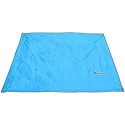 Azarxis Lona de Tienda de Campaña Impermeable para Carpa Toldo Terraza Playa (Azul Claro, L - 2,4 x 2,2m)