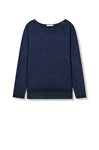edc by ESPRIT Damen Pullover Blau (Navy 400)