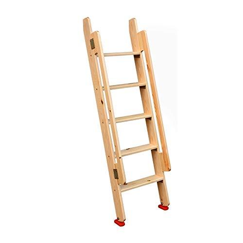 Escalera de madera Loft Interior de la casa Altura 1.5 m Escalera mecánica de madera maciza simple Escalera ascendente Escalera de bunker