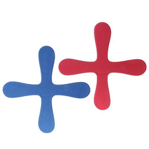 ZJL220 Kreuzform Bumerang Fliegen Spielzeug Outdoor Park Saucer Lustiges Spiel Kinder Sport (Outdoor-sport-spiele Für Kinder)