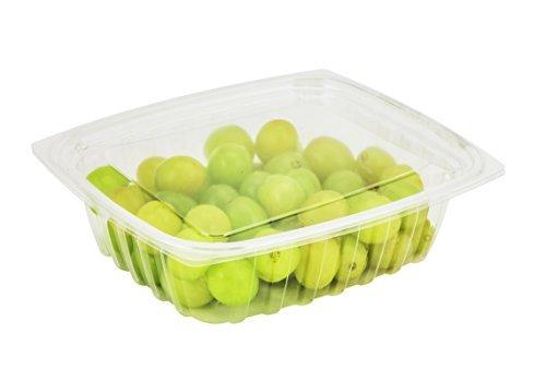 Dart c24der, ca. 680ml clearpac klar rechteckig, Kunststoff Container mit Clear Flacher Deckel, Take Out Deli Fruit Einweg Lebensmittelbehälter farblos - Dart Container Clearpac