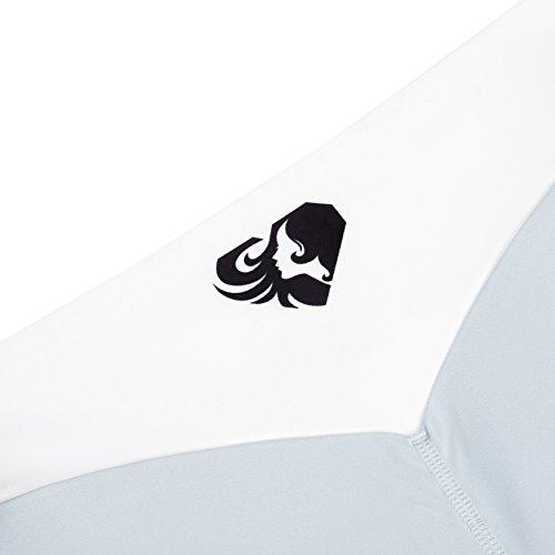 Kurze Sport-Hose für Damen in tollem Design | Bequeme Trainings-Hose und Fitness-Shorts für Frauen mit elastischem Bund und bequemen Schnitt für eine tolle Figur | WOMEN'S BEST �?EXCLUSIVE SHORTS Grey/White