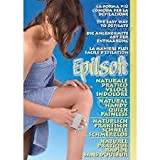 Epilsoft guanto depilatorio esfoliante,Depilatore di cristalli naturali, per donna e uomo, rasatura a secco ed indolore, depilatore per viso donna, braccia, gambe e corpo, comodo da portare in viaggio