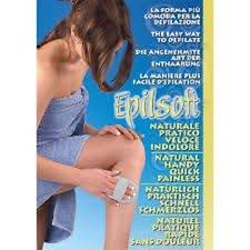 Epilsoft Guante para una Exfoliante Depilación / Depilador de cristales naturales para mujeres y hombres, afeitado en seco, indolor, bigote mujeres, removedor de vello, afeitado de viaje
