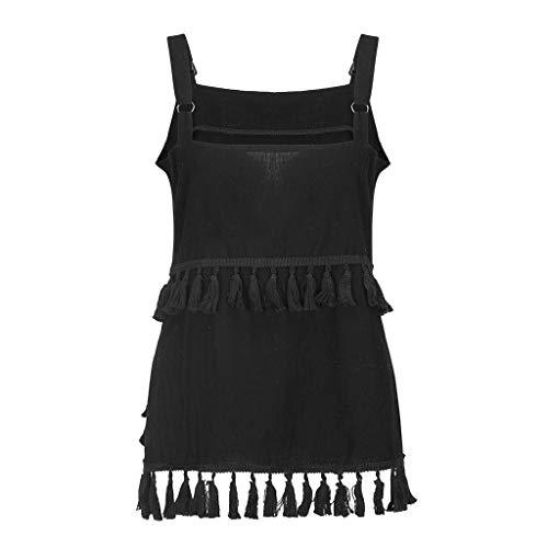 BHYDRY Mode Frauen Sexy Lässige Quaste Normallack Sleeveless Camis Tank ()