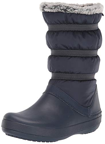 crocs Damen Crocband Winter Boot Women Schneestiefel, Blau (Navy), 39/40 EU